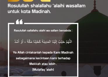 Do'a Rasulullah SAW untuk Kota Madinah