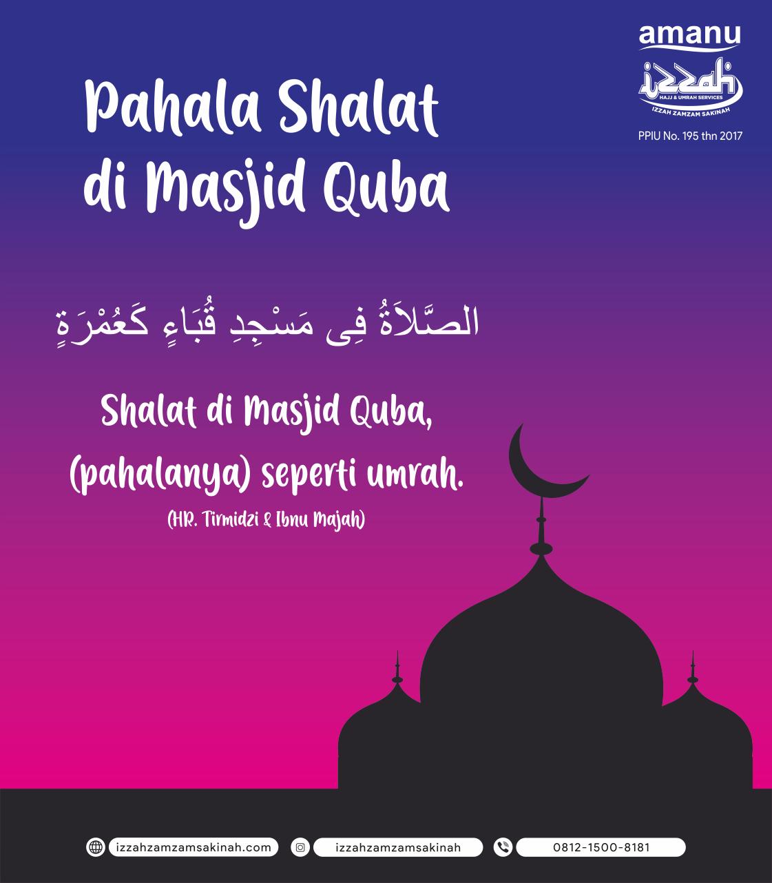 Keutamaan Shalat di Masjid Quba
