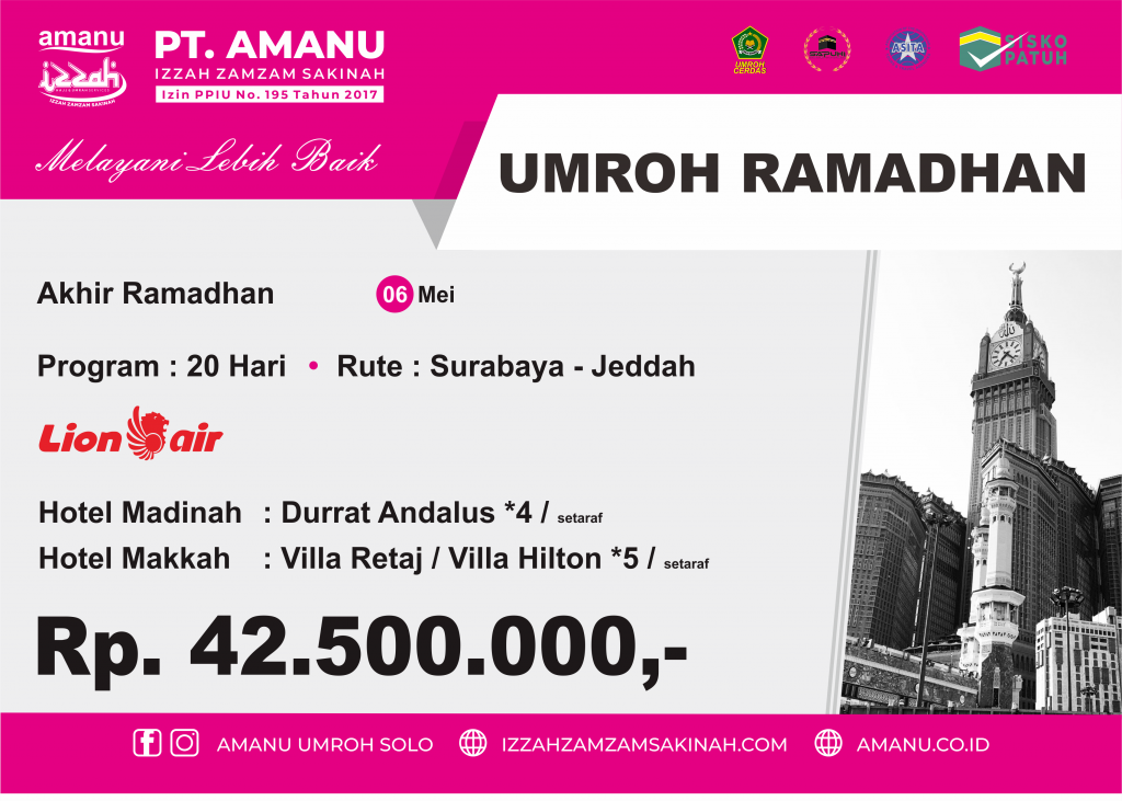 Umroh Akhir Ramadhan 1441 H PT. AMANU