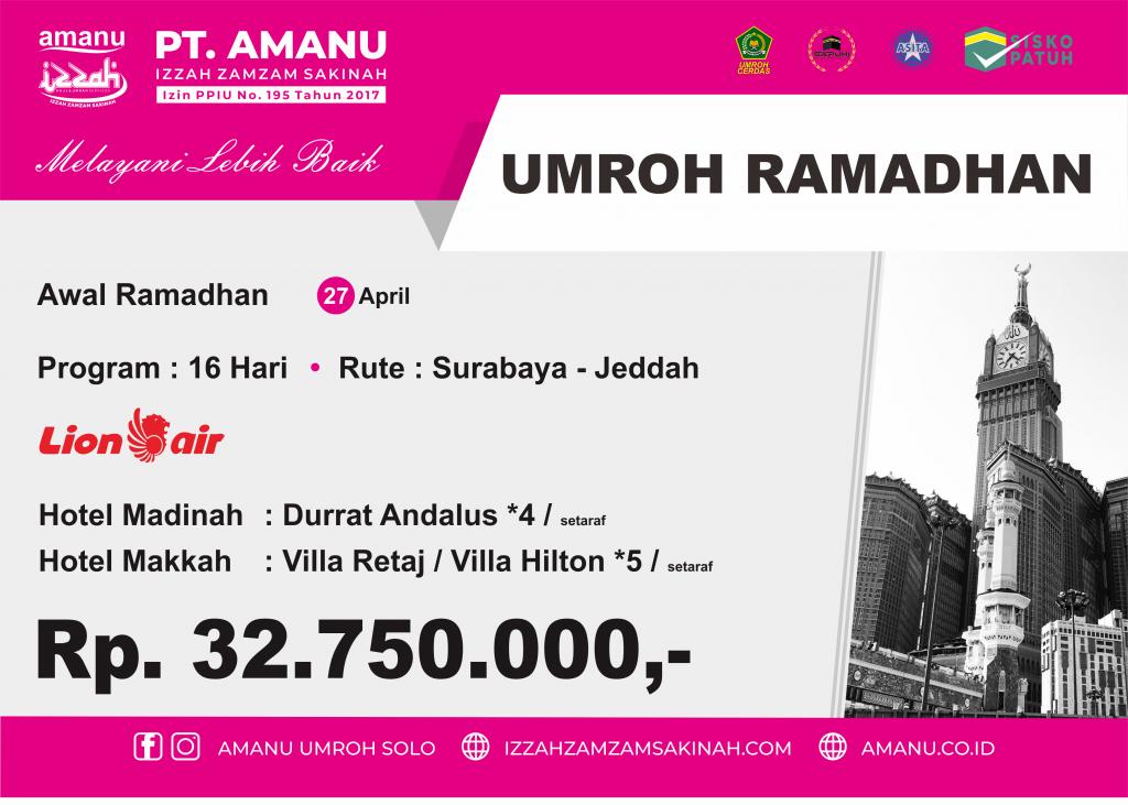 Umroh Awal Ramadhan PT. AMANU