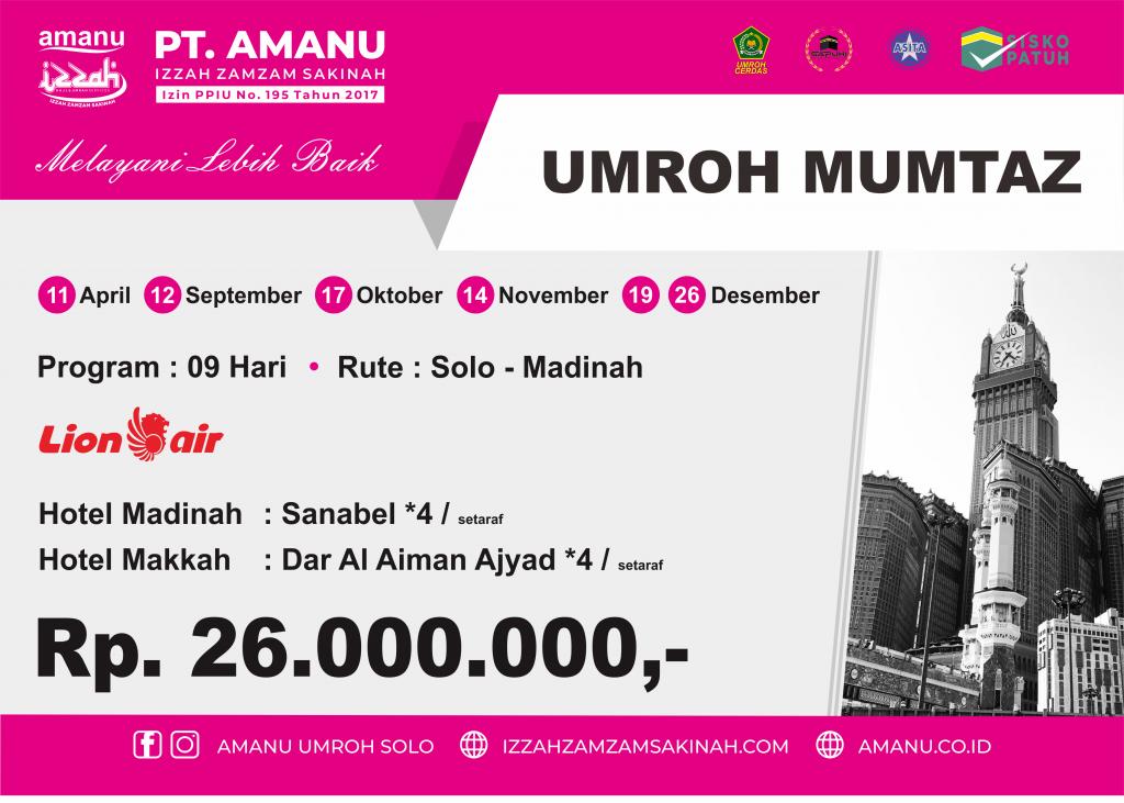 Umroh Mumtaz PT. AMANU