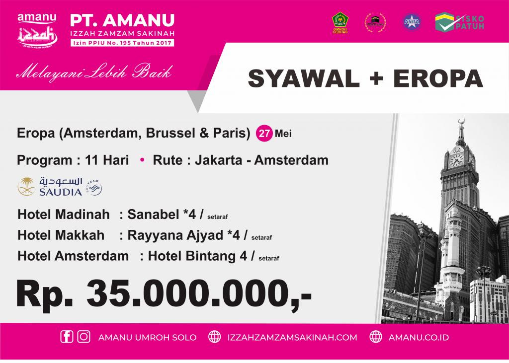 Umroh Syawal + Eropa PT. AMANU
